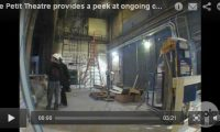 Le Petit Theatre, a backstage peek at the ongoing construction